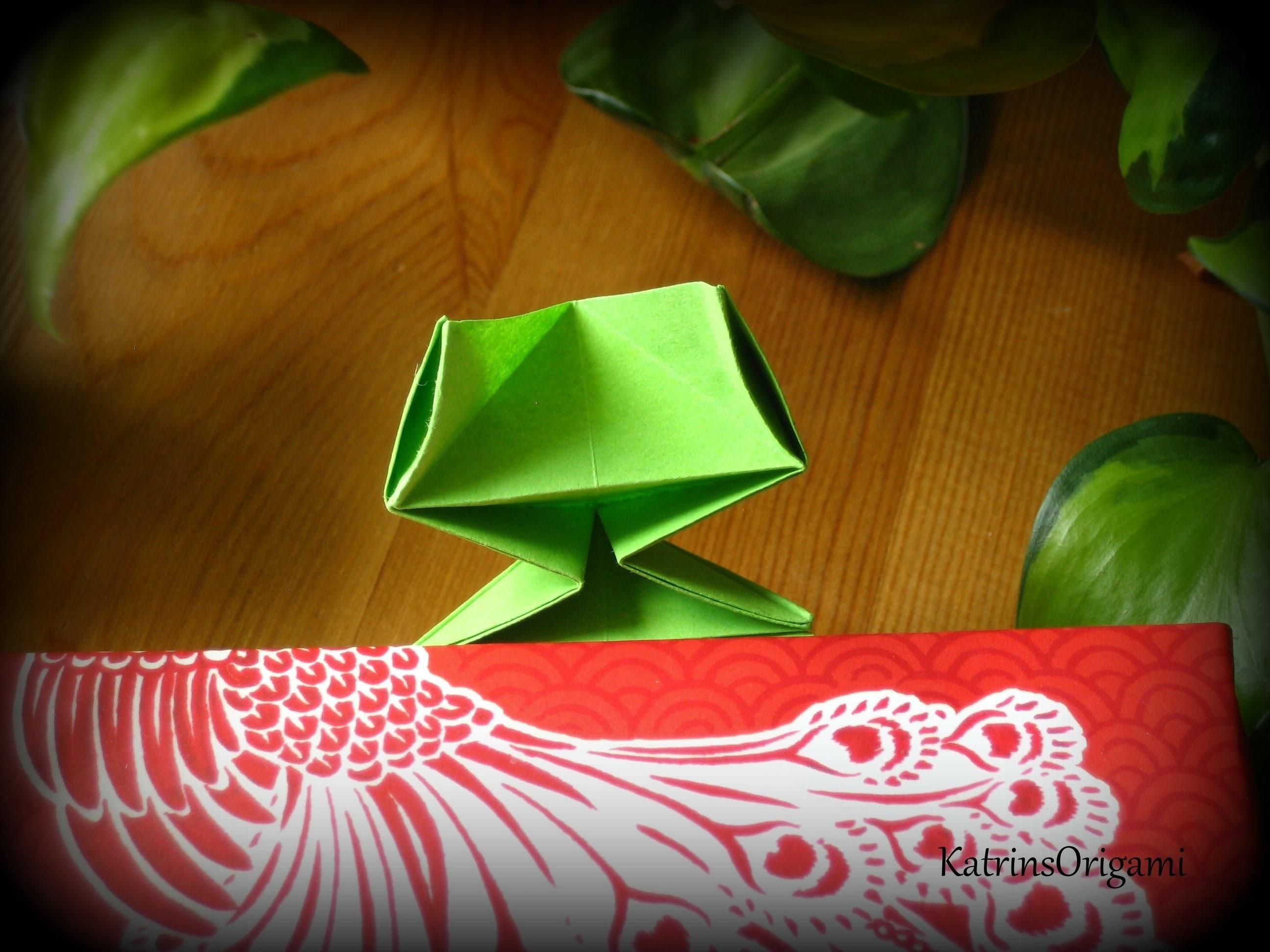 Origami ☆ Frog Bookmark ☆