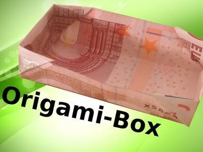 Origami: Geld-Box Basteln mit einem Geldschein