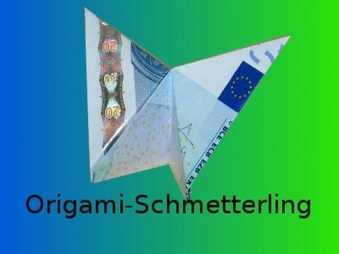 origami geld schmetterling basteln mit einem geldschein. Black Bedroom Furniture Sets. Home Design Ideas