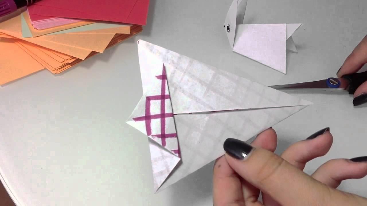 origami h schen selber basteln papier h schen anleitung. Black Bedroom Furniture Sets. Home Design Ideas