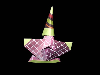 Origami Nikolaus mit Hut: (Santa) Faltanleitung [HD.DE] - (Live erklärt)