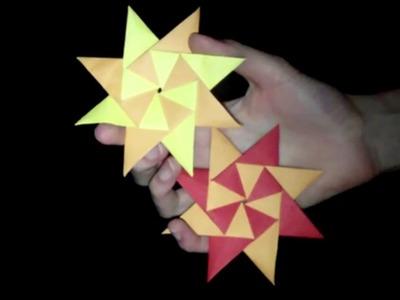 Origami Sonne: Faltanleitung [HD.deutsch]