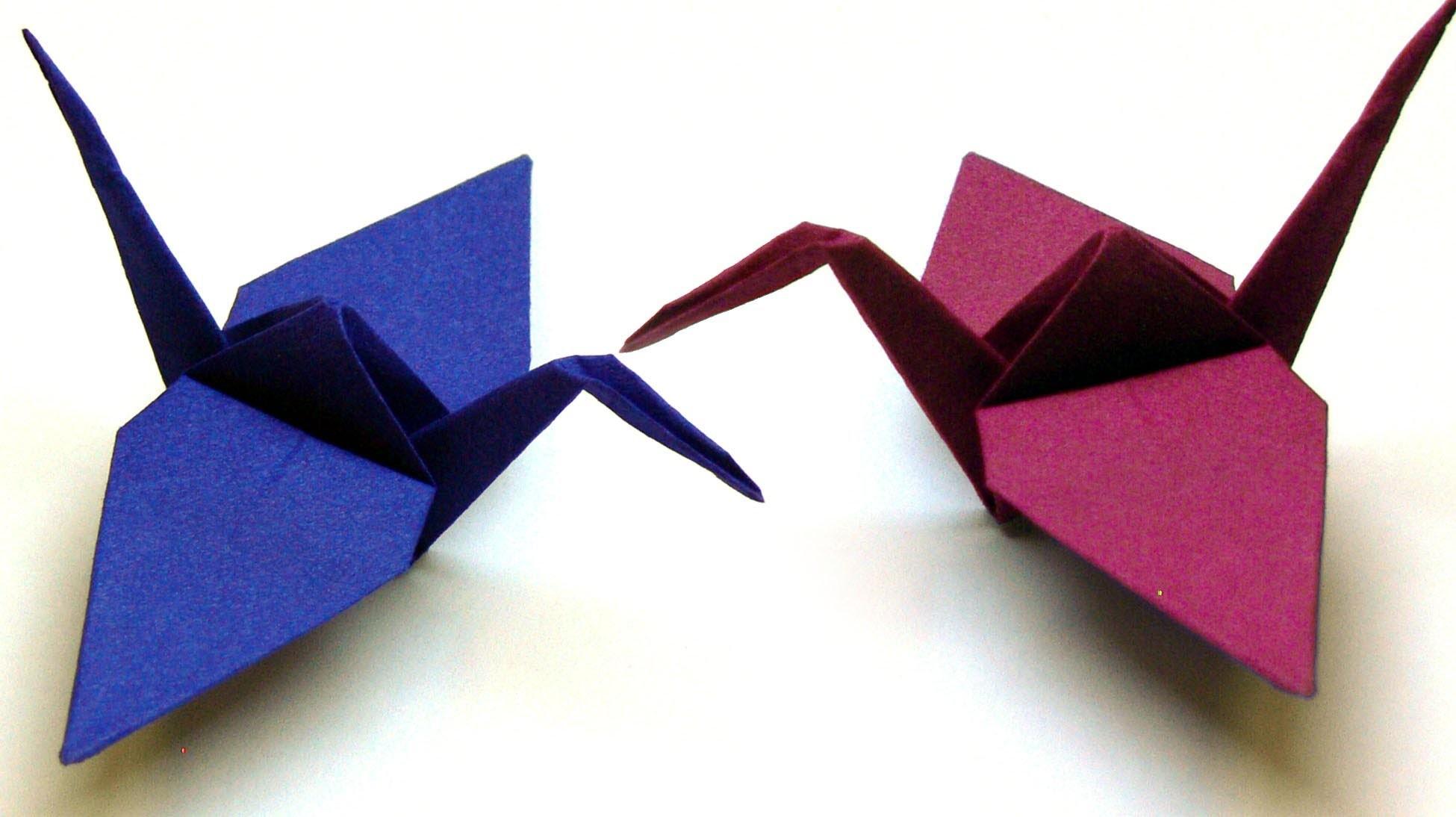 origami tiere falten 03 kranich crane. Black Bedroom Furniture Sets. Home Design Ideas