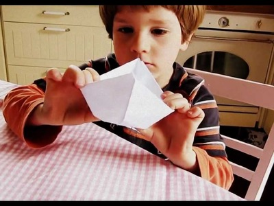 Paper boat, children origami, Papier Boot falten, kindgerecht, Kinder Origami