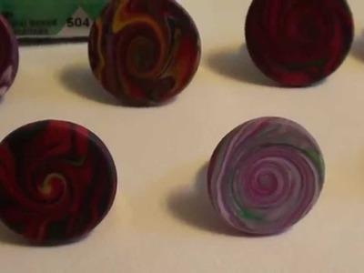 Ringe Swirlmuster,  Fimo Polymer Clay,Schmuck Design
