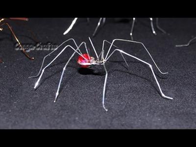 Schnelle Spinne aus Draht und Perlen - Halloween - DIY