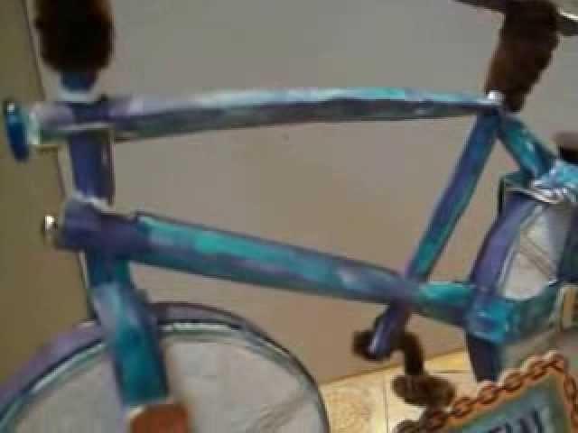 Scrapbook Bicycle  Fahrrad Box Geschenkgutschein