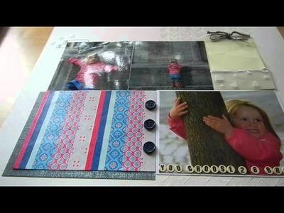 Scrapbooking Layout Gesso Washi Tape Dani Peuss