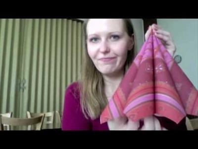 Servietten falten; 4 ganz einfache Falttechniken