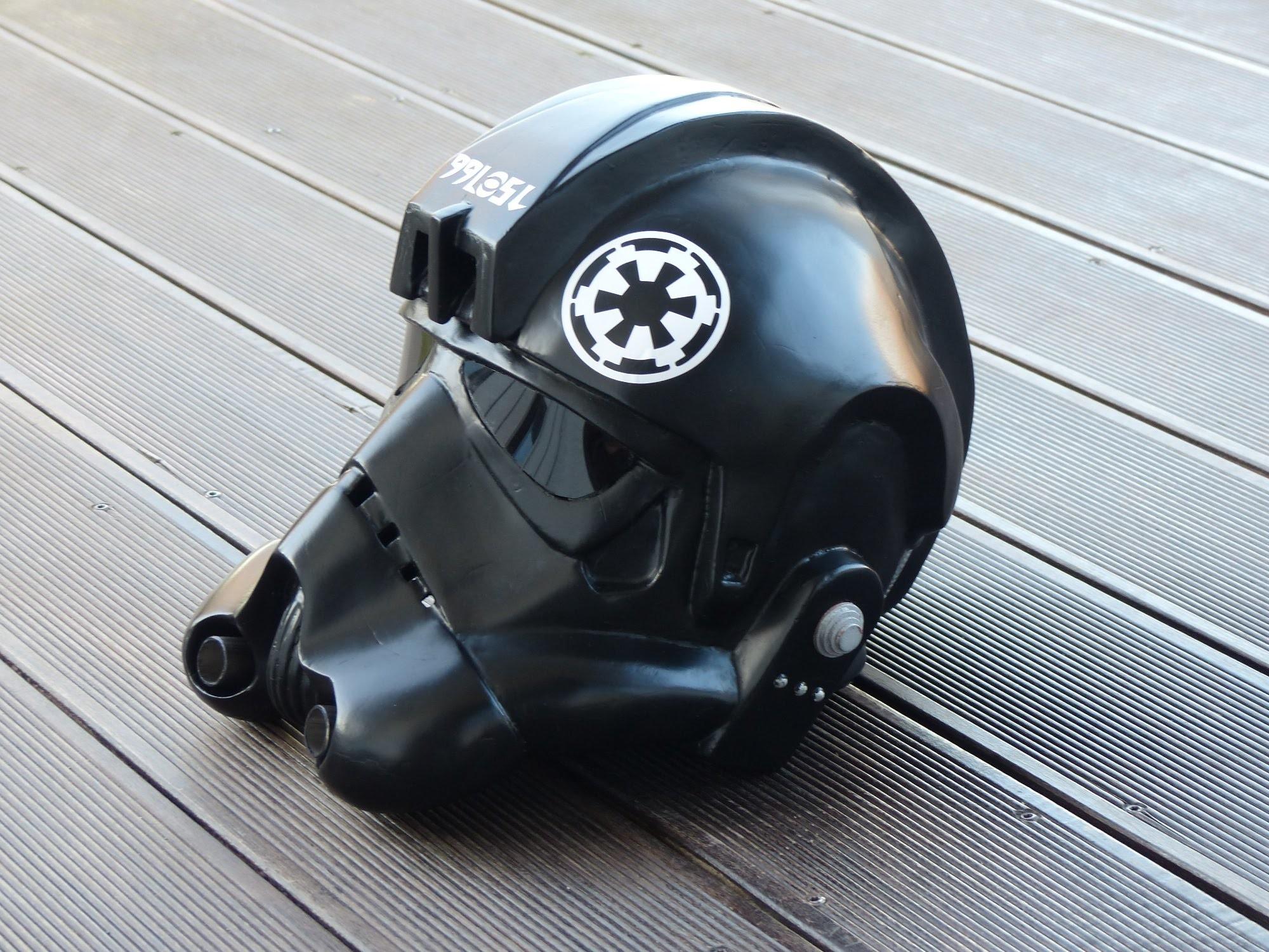Star Wars, making Tie-Fighter Helmet, Papercraft. Pepakura selber bauen, 66target
