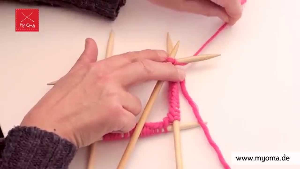 Stricken lernen mit den Omas - DIY Beanie Mütze für Anfänger 2.7: Zur Runde schließen