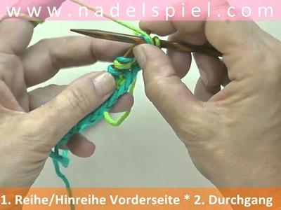 Stricken lernen mit eliZZZa #28 * Patentmuster zweifarbig * Vollpatent