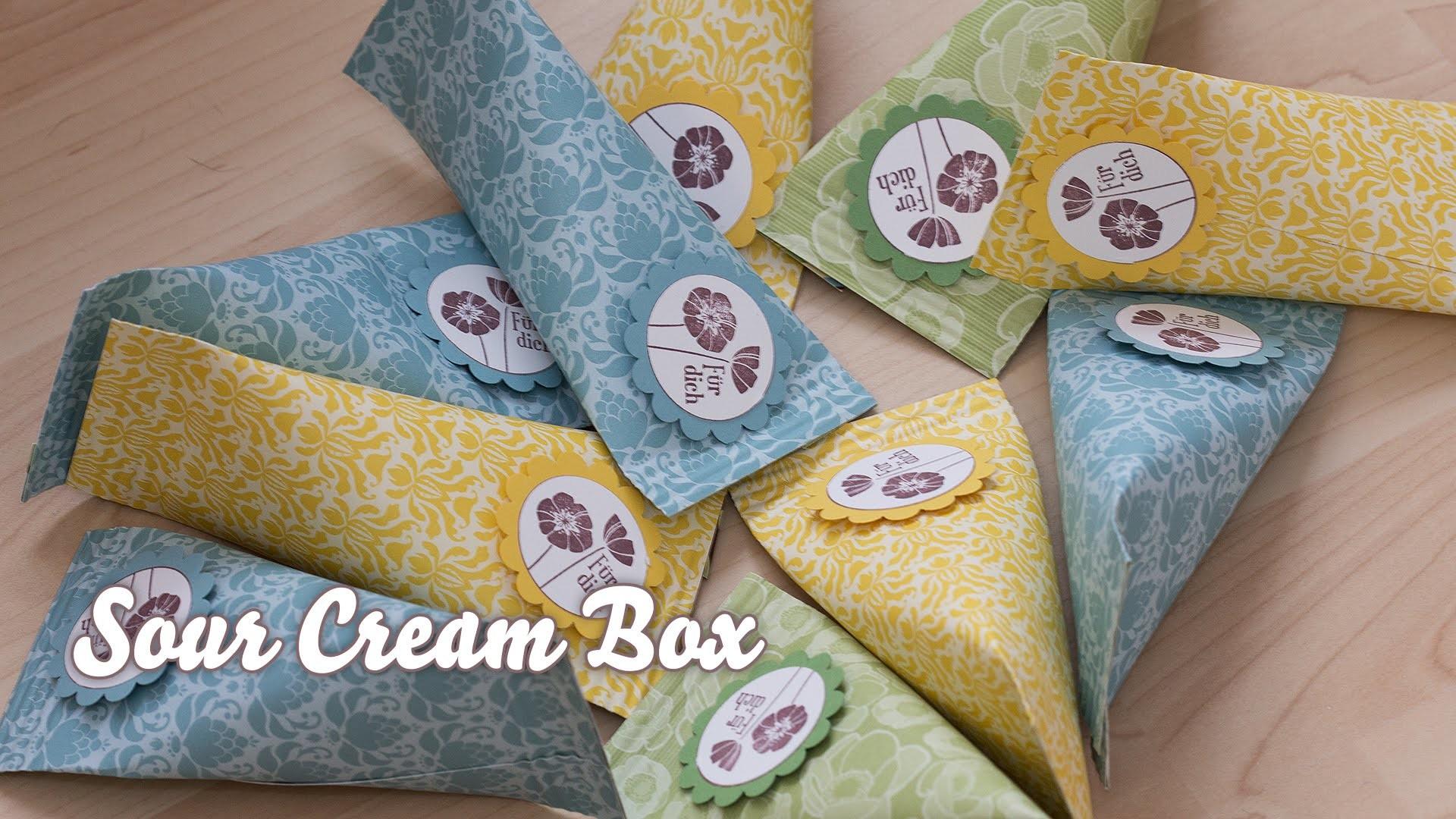 Tutorial - Verpackung für Kleinigkeiten - Sour Cream Box