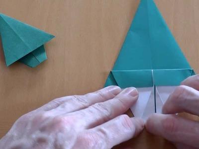 Wie falte ich einen Tannenbaum? Origami Anleitung