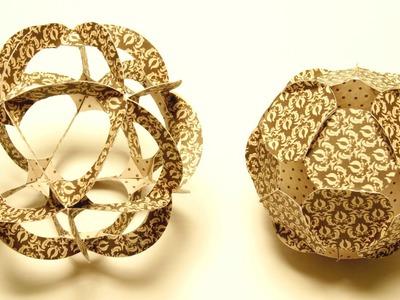 Basteln mit Papier: Paper Ball basteln aus Papier-Ornamenten.