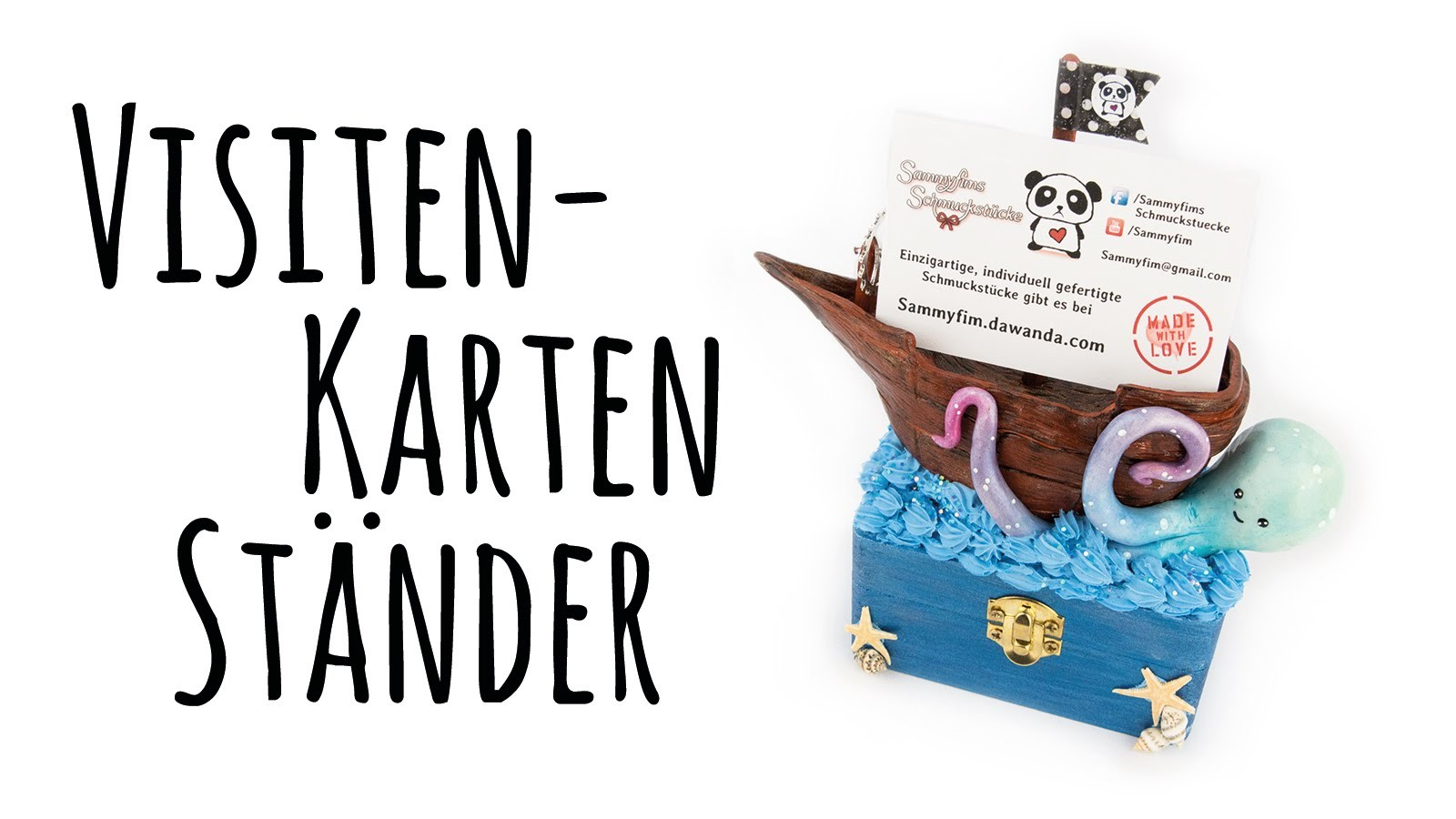 [Craft-Update #31] Visitenkarten-Halter aus FIMO | Mein Contest-Beitrag für Karinas Bastelzeit