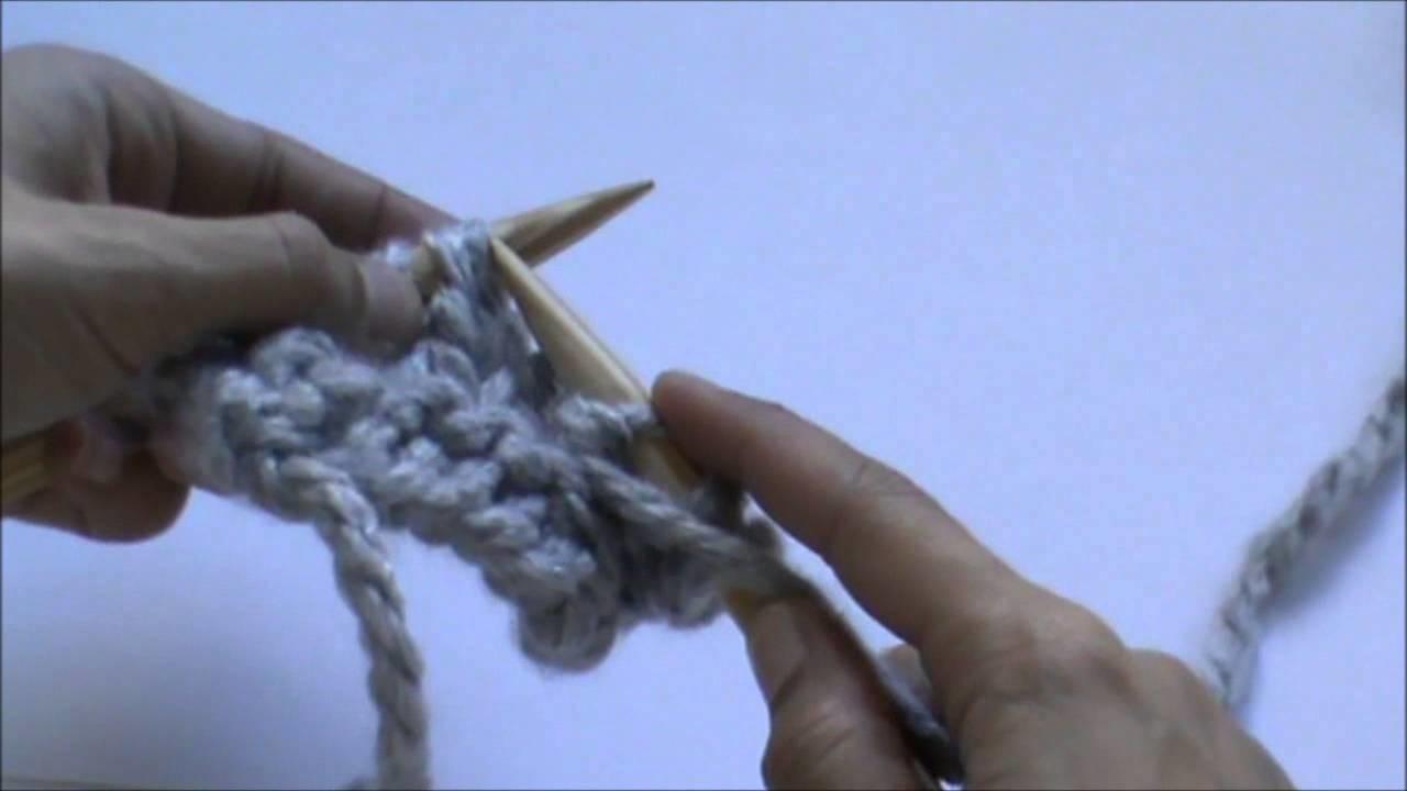 Crealoo Big Knit Video tutorial Punto del reves   Linke Masche stricken
