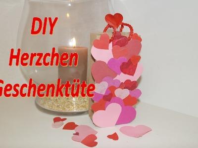 DIY Geschenktüte zum Valentinstag! Wie bastle ich eine Papiertüte! DIY Valentine`s Day paper bag