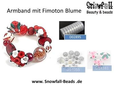 DIY = Inspiration Armband mit Fimoton Blume