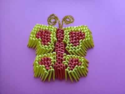 DIY Origami 3D Schmetterling Herz  Geschenk Gift Ideas Heart Tutorial Anleitung