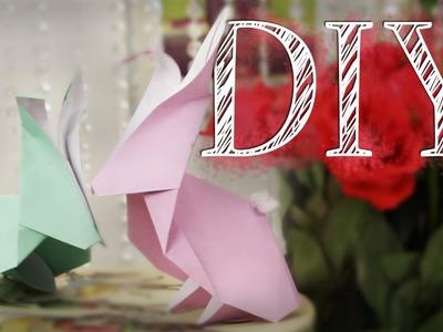 DIY Origami Hase - last minute Oster Deko - schnell, einfach
