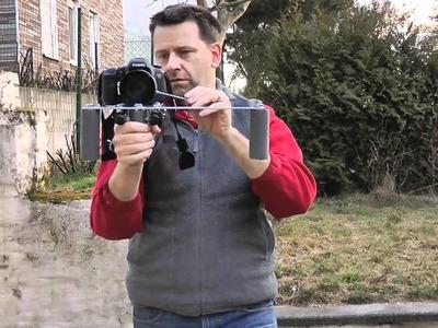 DIY Shoulder Rig erste Vorstellung mit montierter Canon 7D