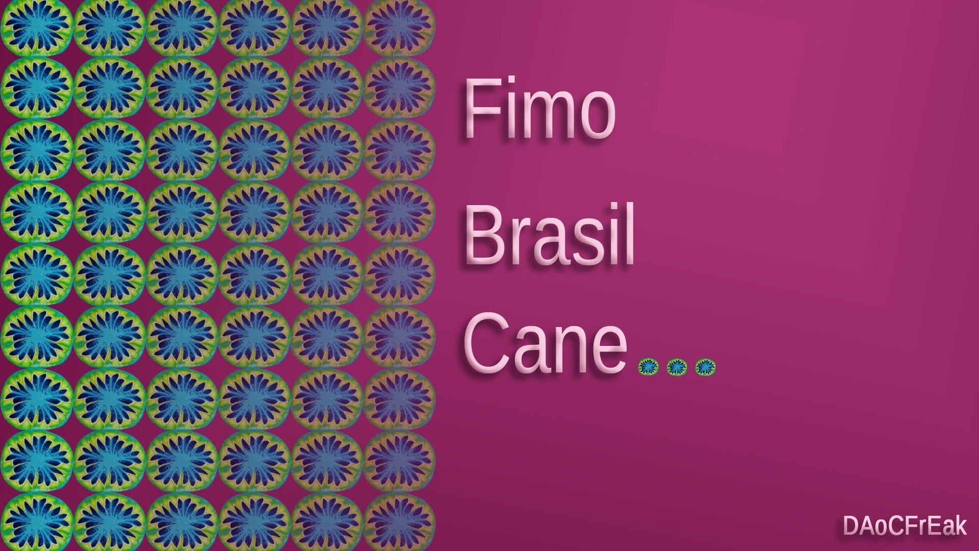 FIMO Brasil-Cane: Polymer Brazil Colors - Tutorial [HD.deutsch]