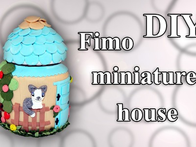 FIMO Haus: Polymer Miniature Cottage - Tutorial [HD.DE] (EN-Sub)
