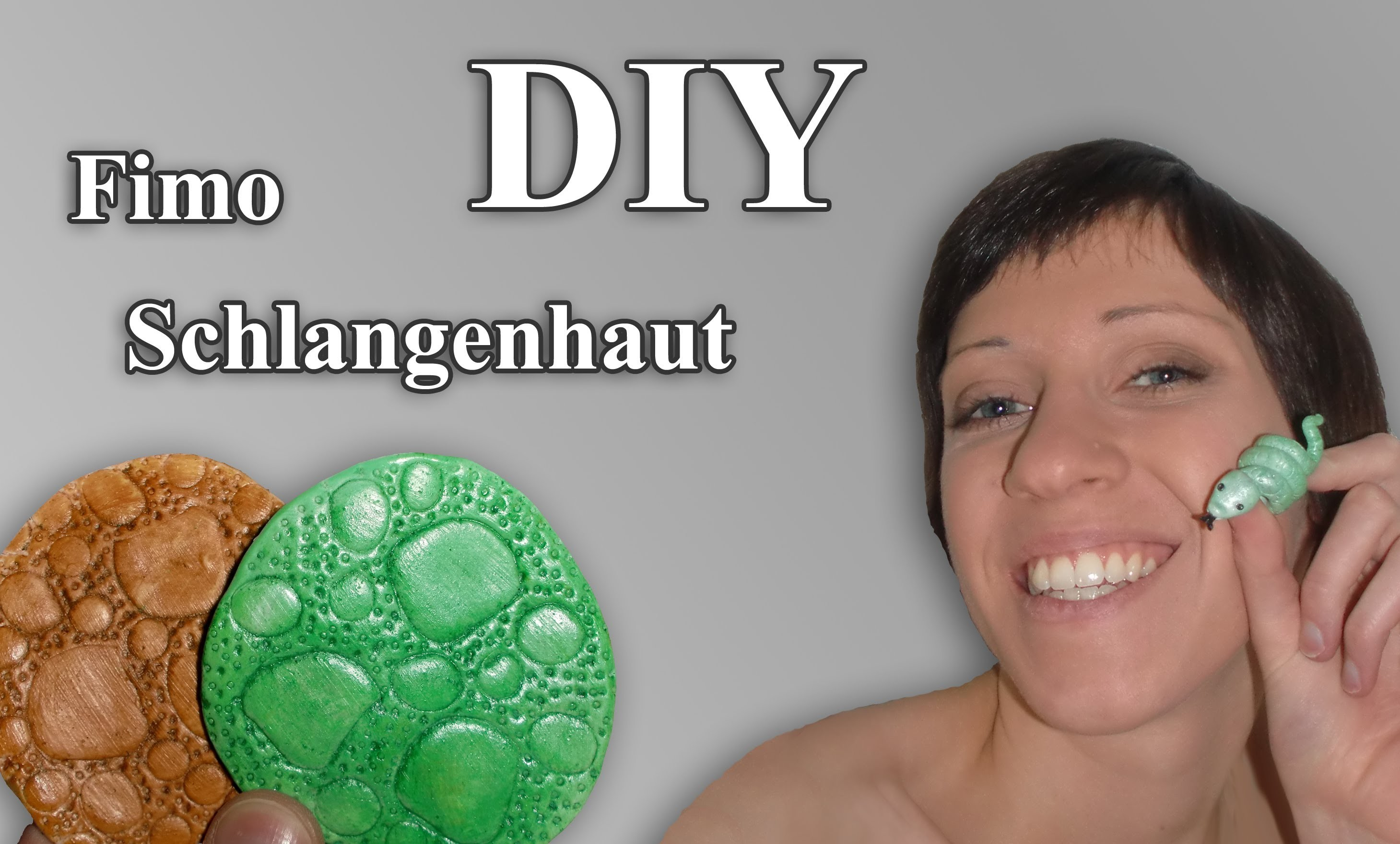 FIMO Schlangenhaut: Polymer Snake Skin Surface - Tutorial [HD.deutsch] (EN-Sub)