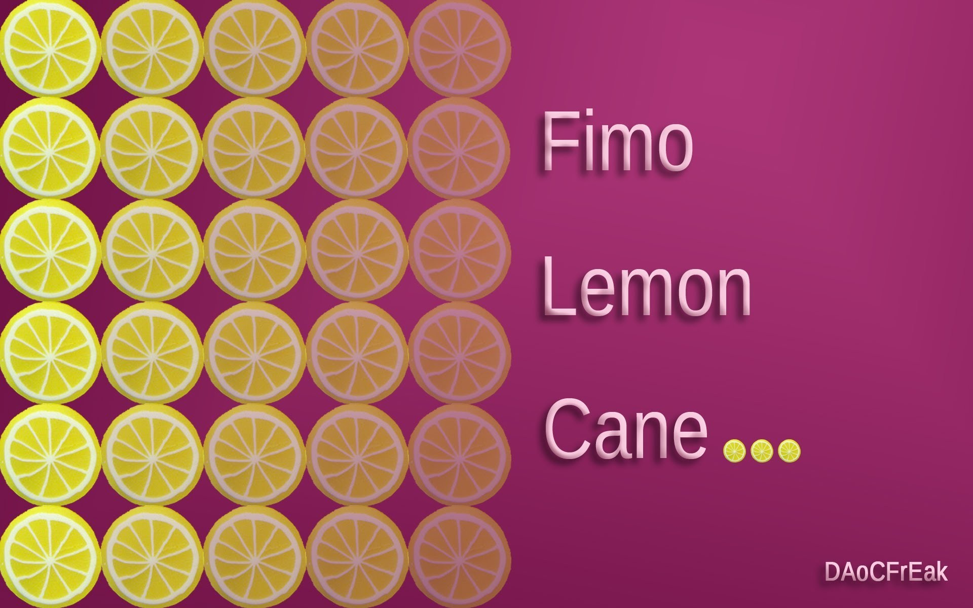 FIMO Zitronen-Cane: Polymer lemon - Tutorial [HD.deutsch]