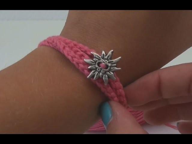 Häkeln Armband Anleitung zum Oktoberfest - Freundschaftsbändchen Tutorial how to crochet a bracelet