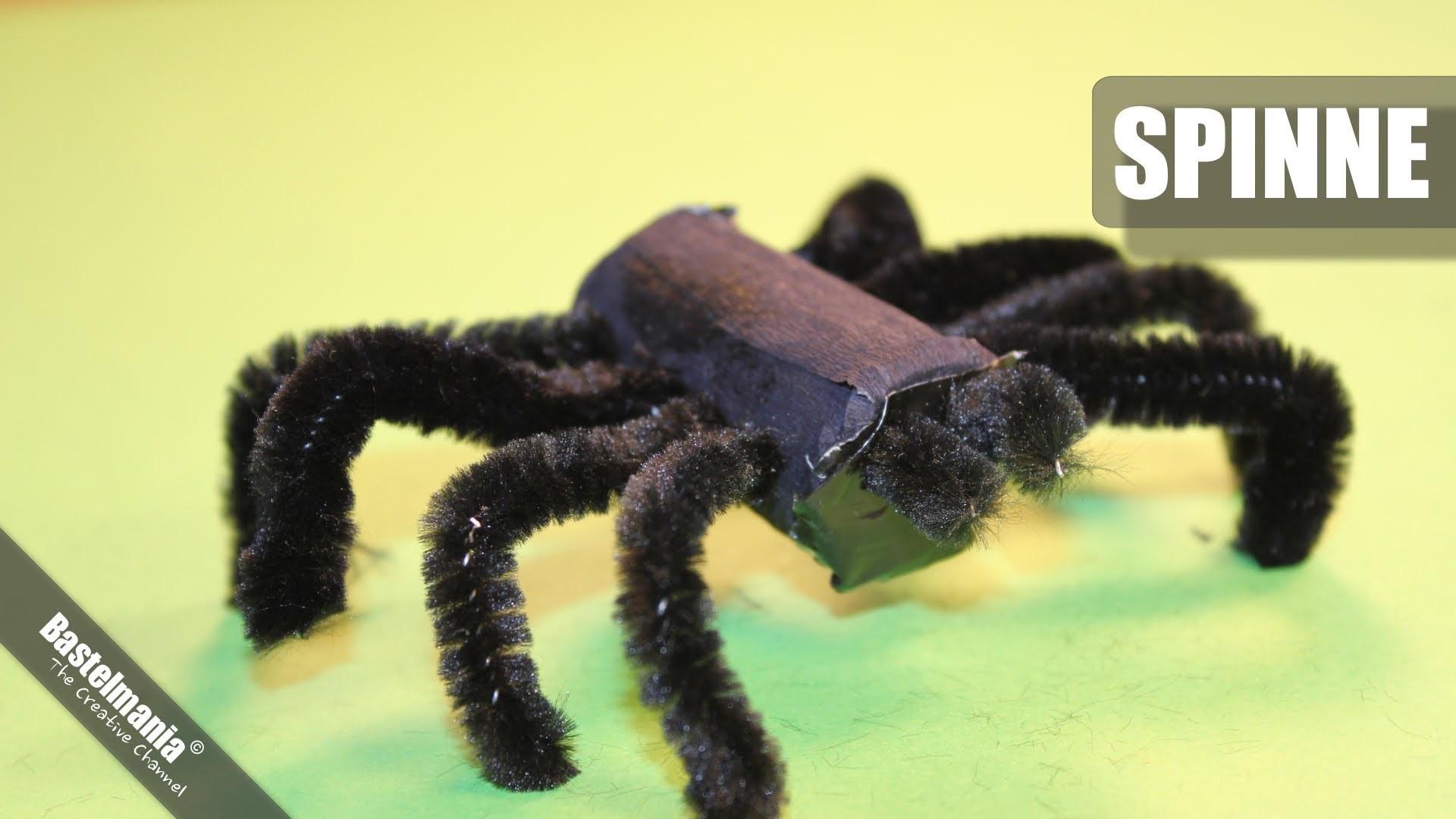 Halloween Spinne. Halloween Spider. Kinderbasteln. Kids Crafts