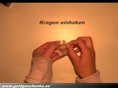 Hemd aus Geldschein falten. Origami