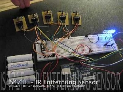 IS471F IR Sensor & LD274 IR-LED on a Arduino