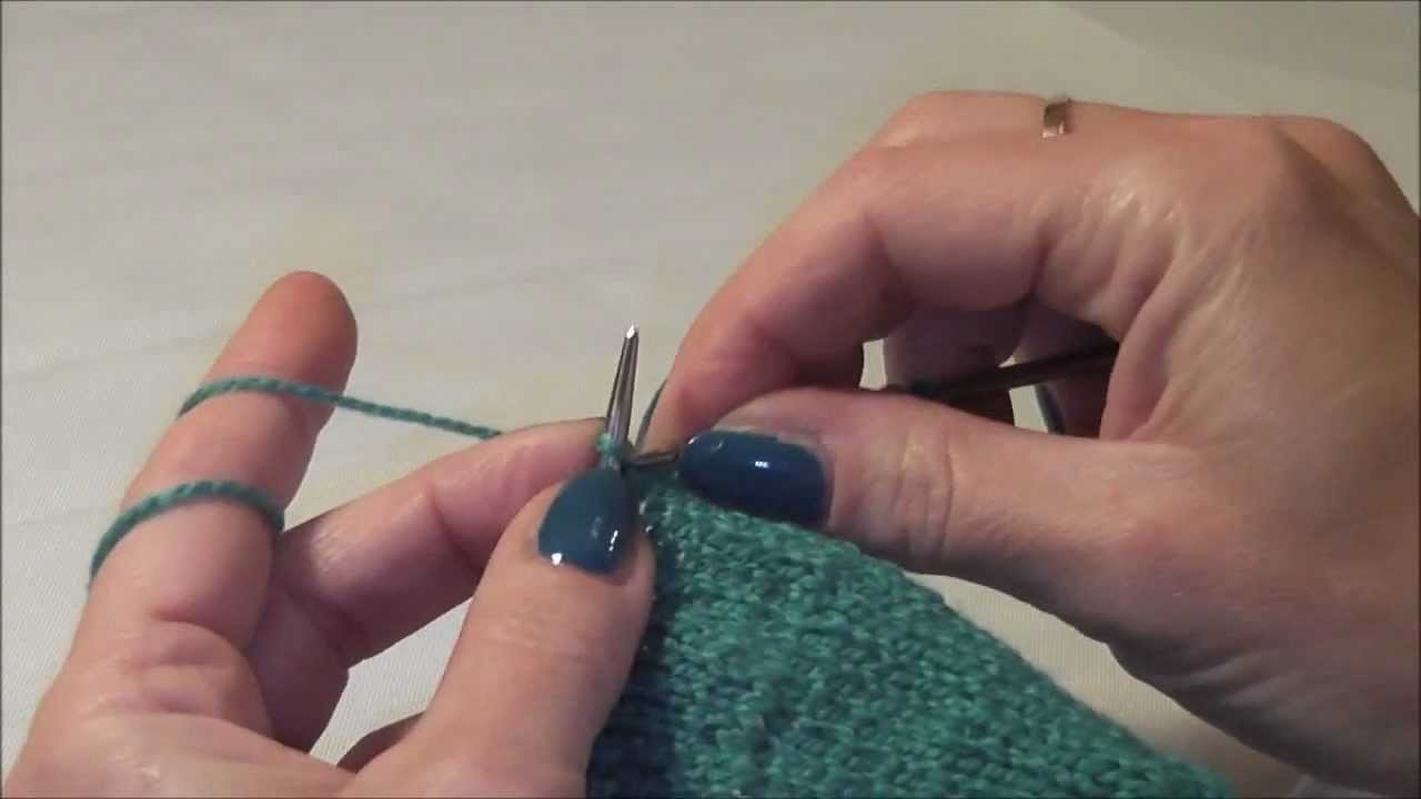 Knitting Stricken, Abnehmen von Maschen innerhalb einer Strickreihe