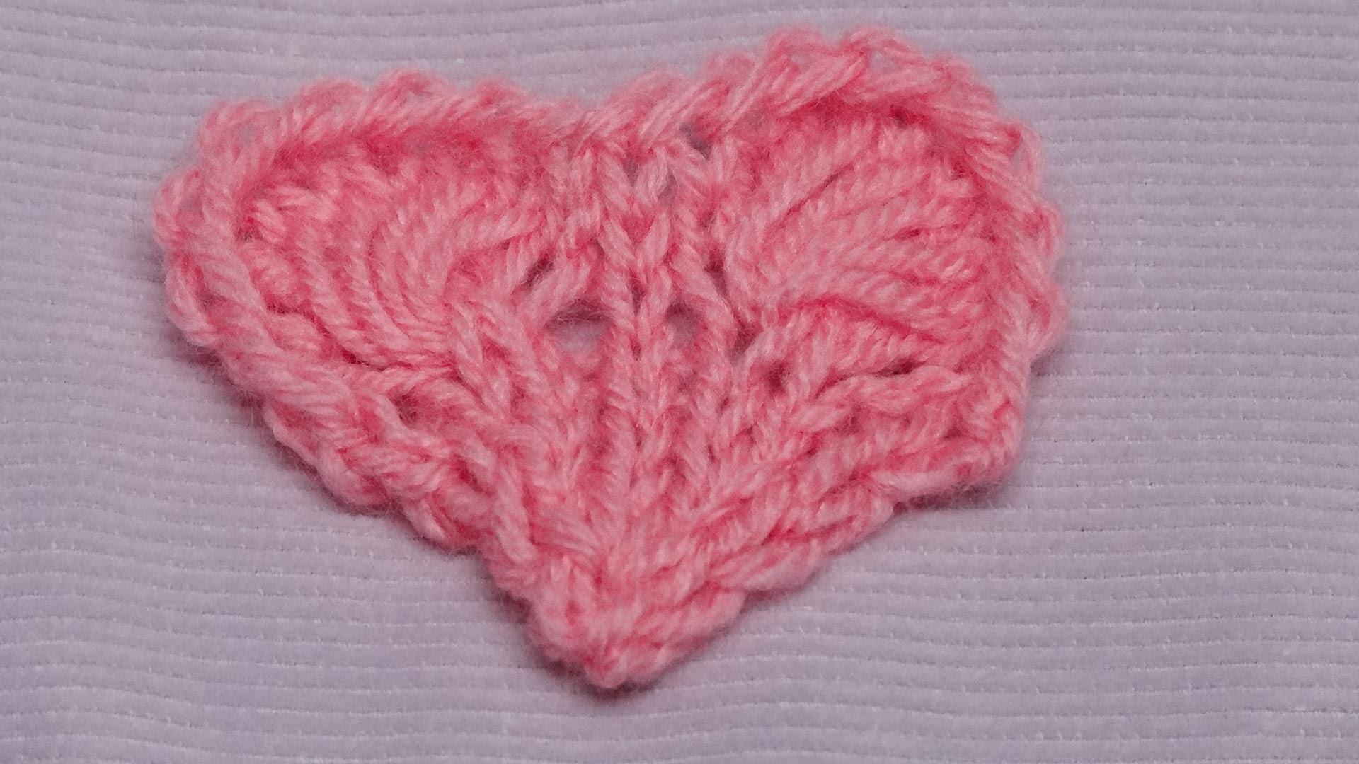 Lace-Herz mit langen Maschen - Lace-Heart with long stitches - Strickmuster - Knitting Pattern