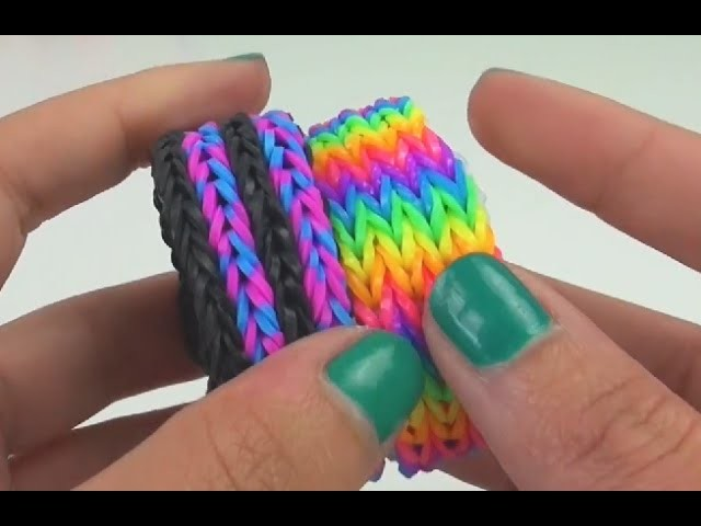 Loom Bandz DIY Vierfach Fishtail selber machen Anleitung Tutorial | How To deutsch
