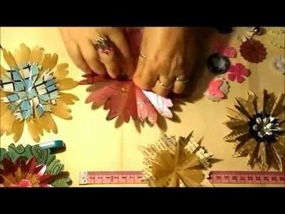 MitChristineCreativ Papierblumen basteln - Vintage Scrapbooking