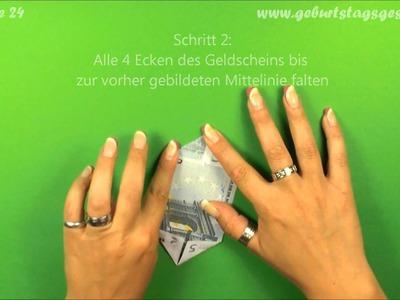 Origami Geldschein-Stern falten