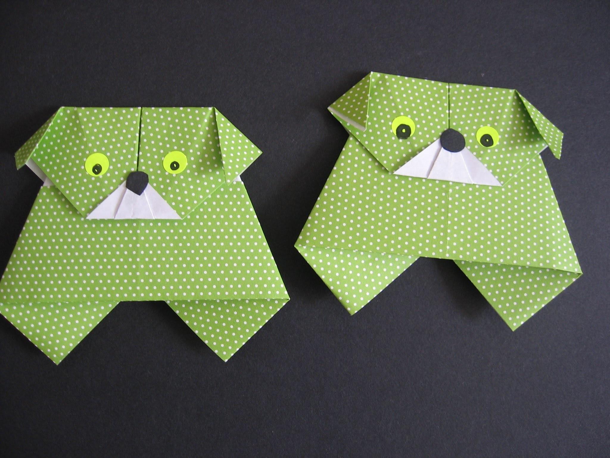 Origami Hund falten, Papier falten