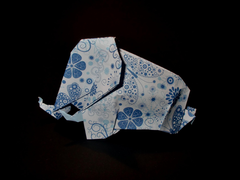 Origami Mammut: Large Mammoth - Tutorial [HD]