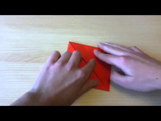 Origami Rose selber falten. Oregami Rose falten