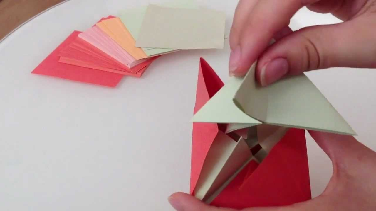 Origami Superwürfel falten. Würfel falten - Faltanleitung