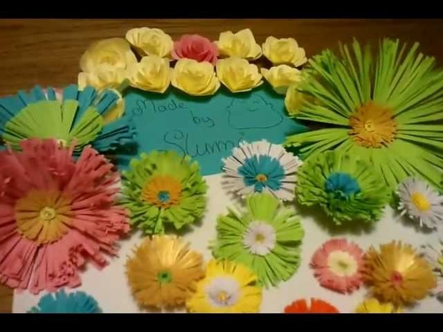 Quilling Paper Flowers Made by Me