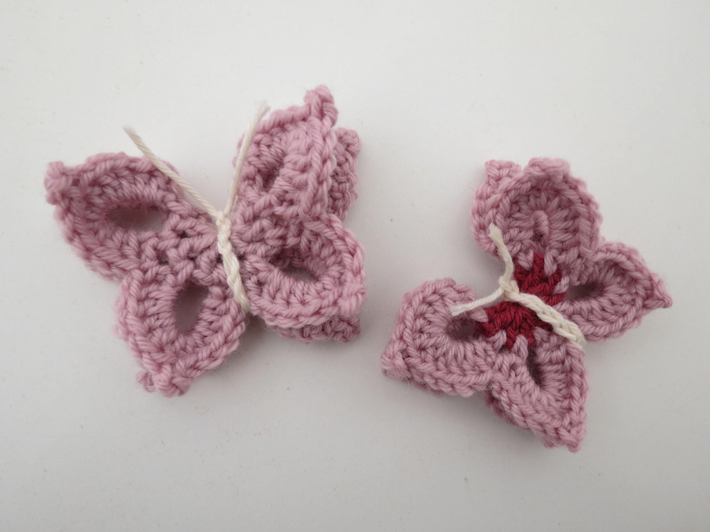 Schmetterling häkeln * Anleitung * Crochet Butterfly [eng sub]