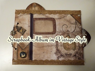 Scrapbook Album im Vintage Style. DCWV-Collection Timeless Type Stack