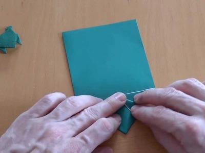 Wie falte ich einen hüpfenden Frosch? Origami Anleitung