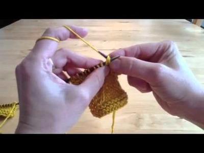 Wie man Twistmaschen strickt