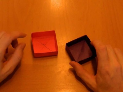 03 Origami: (d) Anleitung einfache Box aus einem Papierbogen
