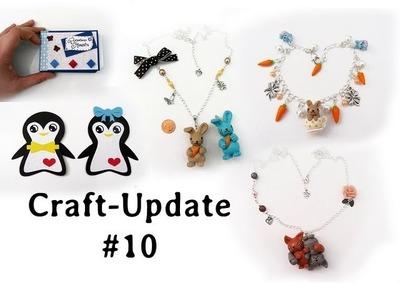 Craft Update #10 - Fimo-Schmuck, Mini-Album und Pinguin-Grußkarten